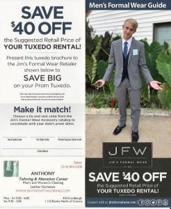 Save $40 Off Tuxedo Rental